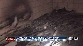 Vandals target Henderson park, set three fires