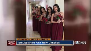 Bridesmaids get dresses ahead of wedding