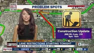 Centennial Bowl lane restrictions overnight
