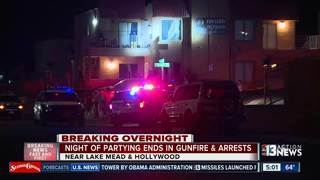 Party ends in gunfire and an arrest