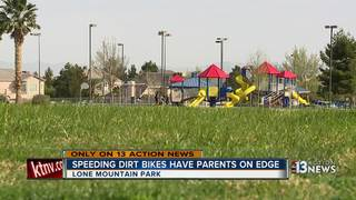 Dirt bikers creating a nuisance at family park