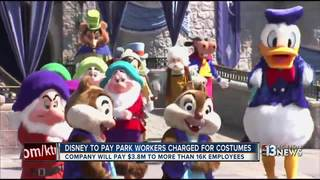 Disney pays back workers charged for costumes