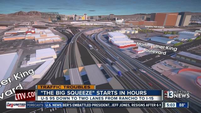 Traffic report on 15 south las vegas
