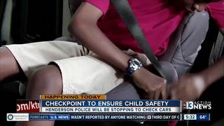 Police set up checkpoint for child safety