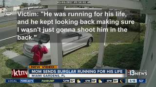 Florida mom scares off burglar with shotgun