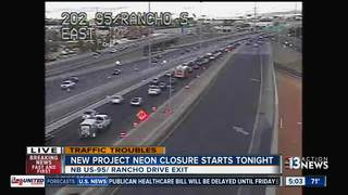 U.S. 95 Rancho Drive ramp to close through July