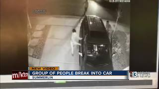 CAUGHT ON CAMERA: Summerlin vehicle break-in