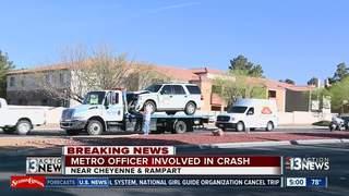 LVMPD vehicle rear-ended near Cheyenne, Rampart