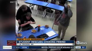 Wisconsin student saves friend's life at lunch