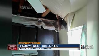 Family's roof collapses at Las Vegas apartment