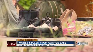 CAUGHT ON CAMERA: Garage sale theft