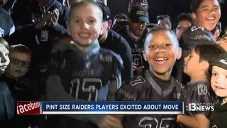 Pint size Raiders excited about Las Vegas move