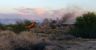 Fire reported at Clark County Wetlands Park