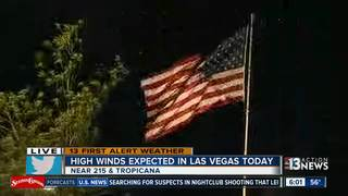 High winds expected Tuesday and Thursday