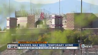 Raiders may need temporary home