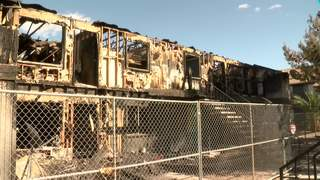 No security seen at site of apartment fire