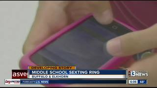 Middle school students cited for sexting ring
