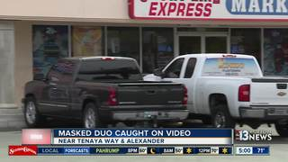 CAUGHT ON CAMERA: Masked men rob gas station