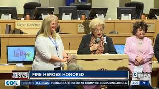 City employees honored for helping fire victims