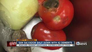 DIRTY DINING: Spoiled food at San Salvador