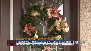 YOU ASK: Family debating HOA over wreath fine