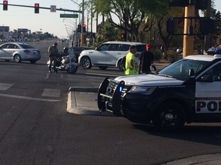 Pedestrian hit by car near Boulder Hwy, Flamingo