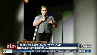 Thieves steal amputee's car