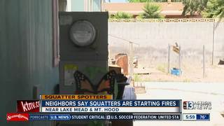 Neighbors worry about squatters starting fires