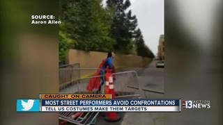 Street performers react to Las Vegas Strip fight