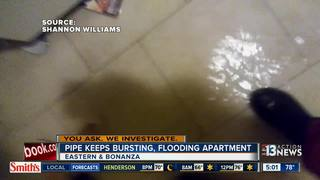 YOU ASK: Pipes keep bursting, flooding apartment