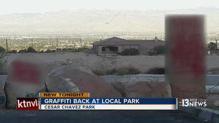 UPDATE: Graffiti returns to Cesar Chavez Park