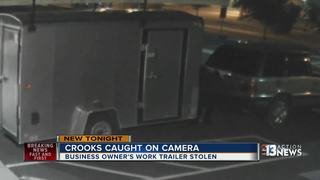 CAUGHT ON CAMERA: Work trailer stolen