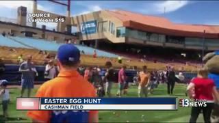 Easter egg hunt at Cashman Field