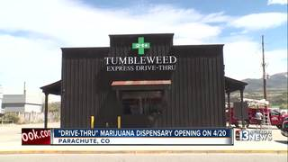 Drive-thru marijuana dispensary opening in Colo.