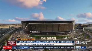 Room tax funds for stadium ahead of projections
