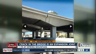 YOU ASK: 'Crack' in bridge is an expansion joint