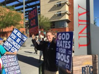 Westboro Baptist Church protests in Las Vegas