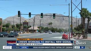 New traffic signal installed at Nellis, Stewart