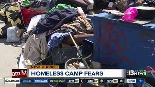 Homeless camp disrupting businesses