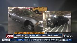 YOU ASK: Tires, wheels stolen in Strip parking