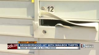 Mailbox thief strikes in east Las Vegas