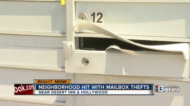 Mailbox thief strikes in east Las Vegas