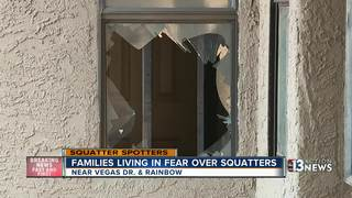 Squatters in several apartments scaring families
