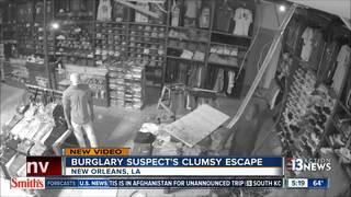 New Orleans burglary suspect's clumsy escape