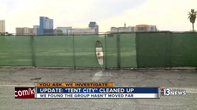 YOU ASK: Tent city cleaned up