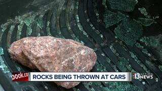 Rocks thrown at cars in Summerlin