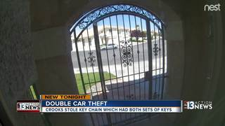 CAUGHT ON CAMERA: Couple has both cars stolen