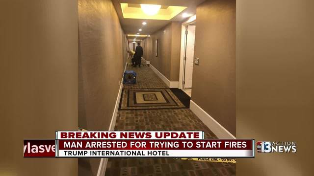 Man, 28, held in pair of Trump hotel fires in Vegas