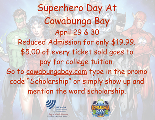 Reduced admission to Cowabunga Bay