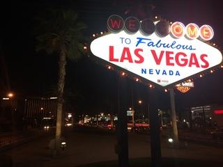 Raiders making draft picks at Las Vegas sign